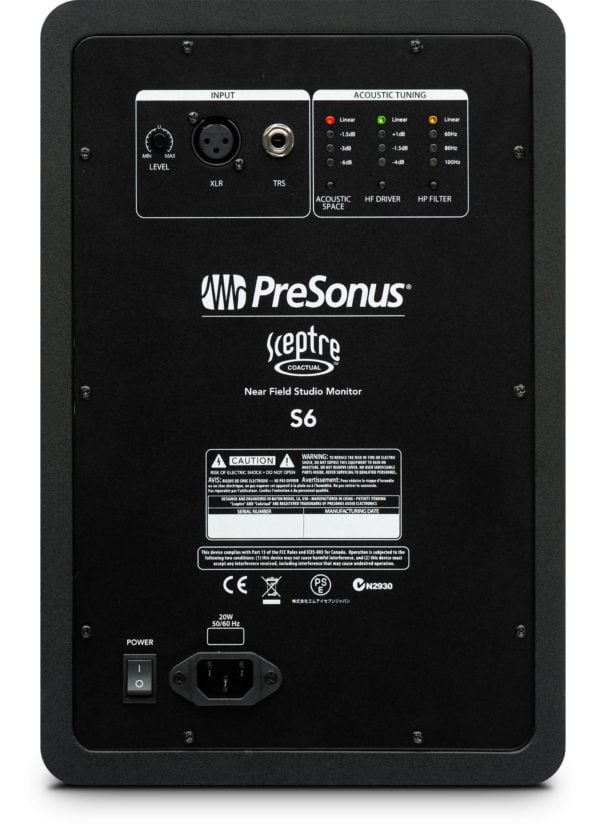 Presonus sceptre s6 back big
