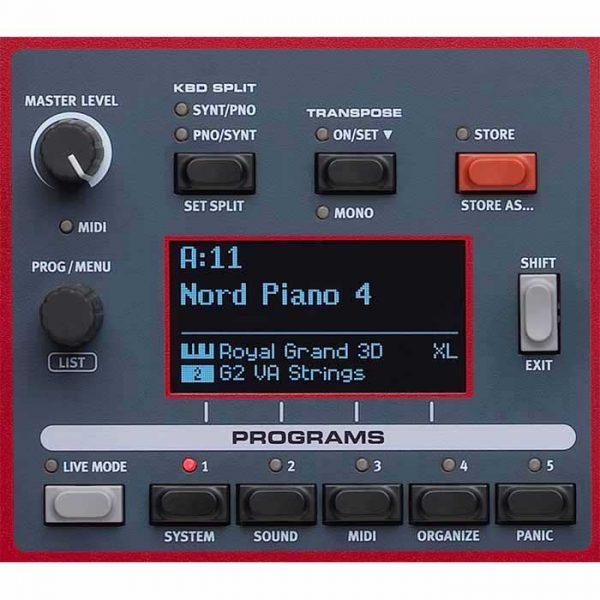 Nord piano 4 panel