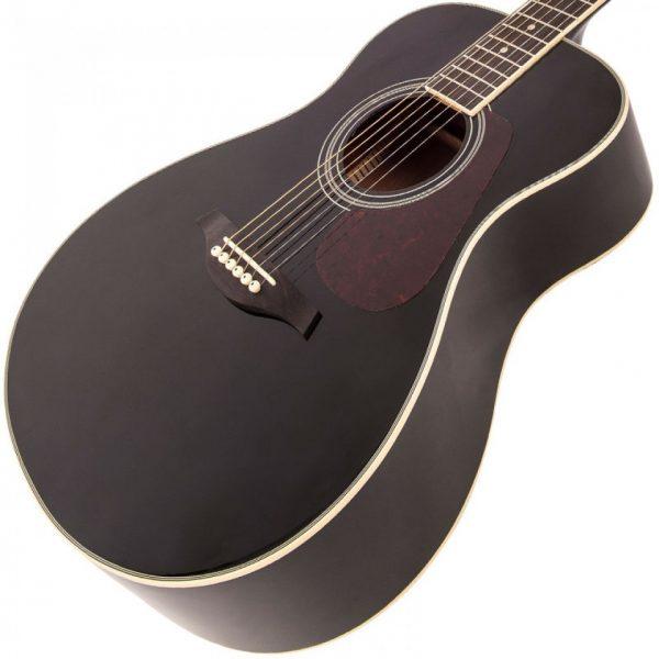 Pr365bi24345 v300bk vintage folk guitar solid top black imd