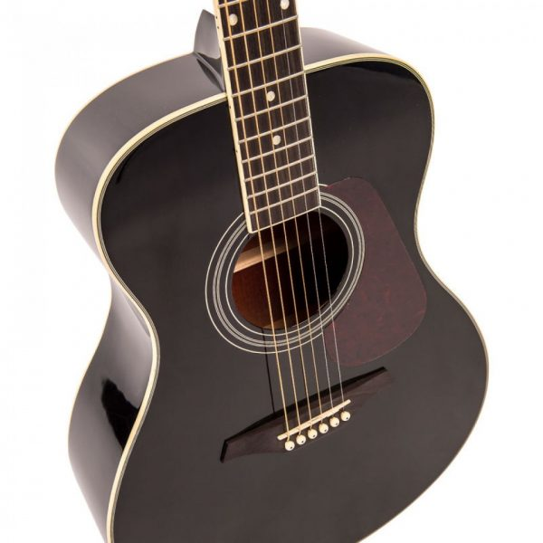 Pr365bi24347 v300bk vintage folk guitar solid top black imd