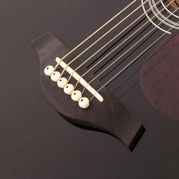 Pr365bi24349 v300bk vintage folk guitar solid top black imd