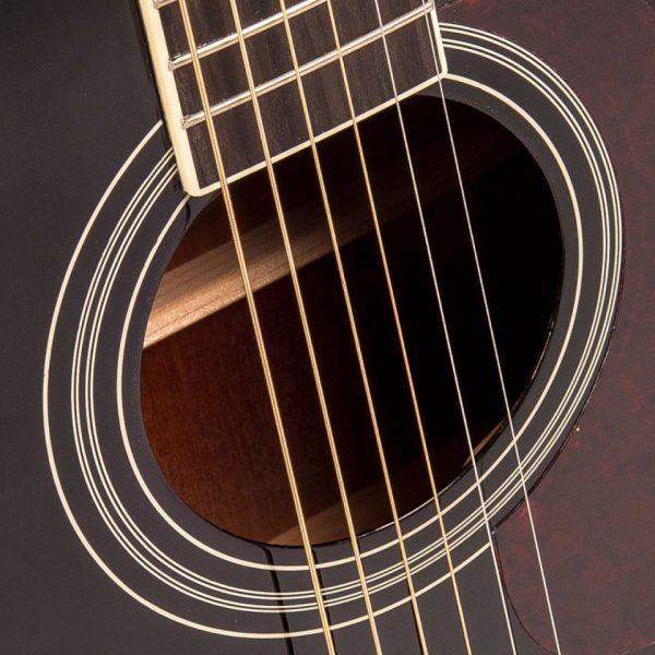 Pr365bi24350 v300bk vintage folk guitar solid top black imd