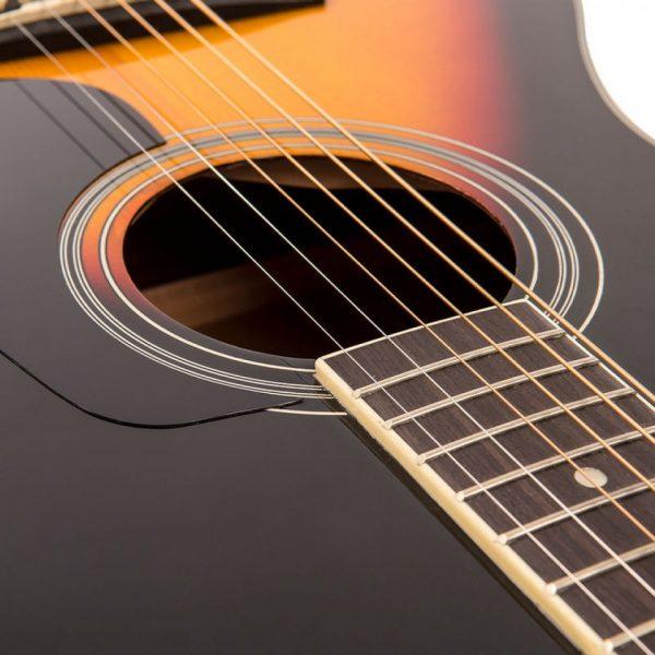 Pr369bi24362 v300vsb vintage folk guitar solid top vintage sunburst imd