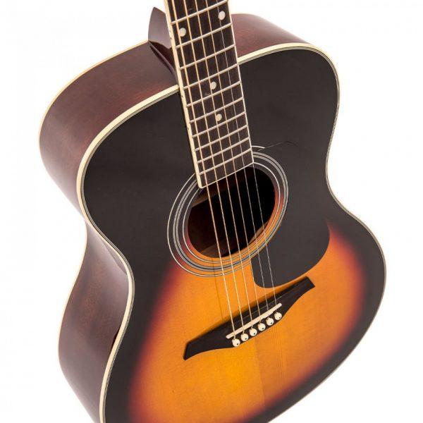 Pr369bi24363 v300vsb vintage folk guitar solid top vintage sunburst imd