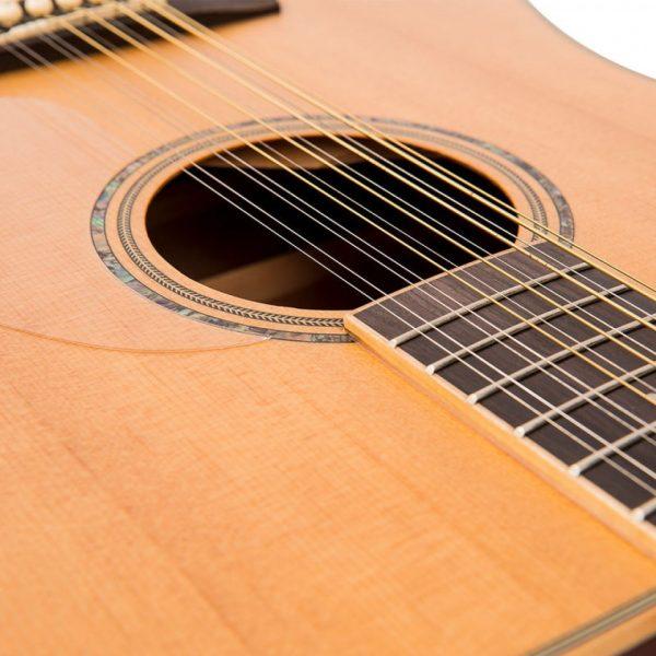 Pr377bi24107 v501 12 vintage acoustic 12 string guitar satin natural imd
