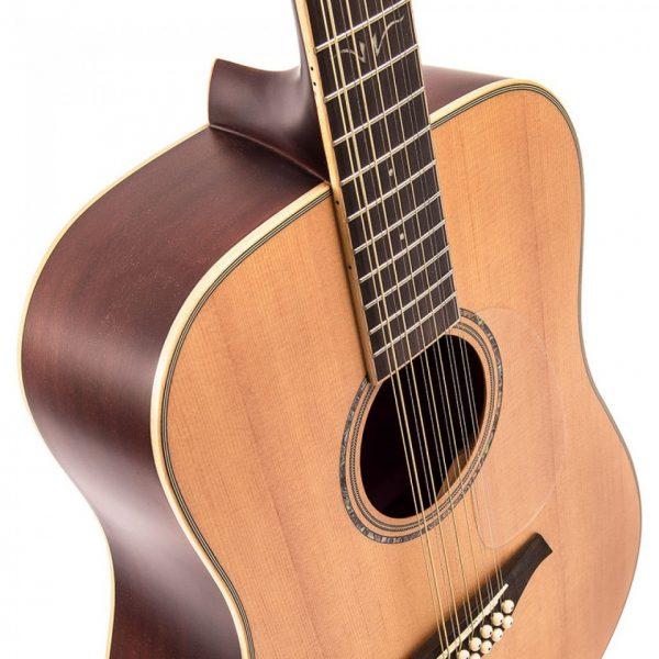 Pr377bi24109 v501 12 vintage acoustic 12 string guitar satin natural imd