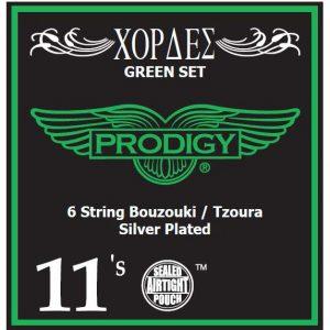 Prodigy green 11s xορδές 3χορδου Μπουζουκιού tζουρά 53736